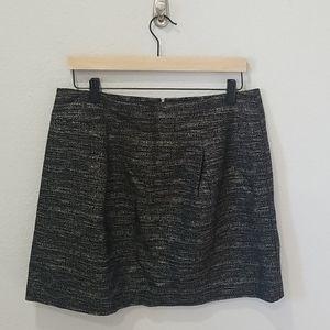 Ann Taylor Loft Outlet Black Sparkle Skirt 12
